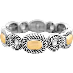 FROM THE HEART Rope Textured Two Tone Bracelet