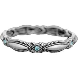 FROM THE HEART Aqua Stone Marquis Link Bracelet