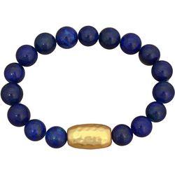 FROM THE HEART Blue Lapis Glass Beaded Bracelet