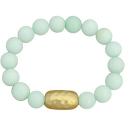 FROM THE HEART Mint Green Glass Beaded Bracelet