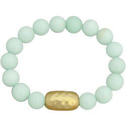 FROM THE HEART Mint Green Glass Beaded Bracelet
