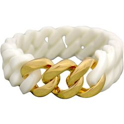 FROM THE HEART White Silicone Stretch Bracelet