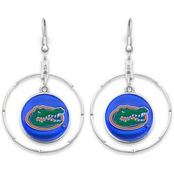 Florida Gators By FROM THE HEART Hoop Disc Drop Earrings