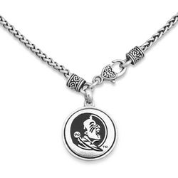 Florida State By FROM THE HEART Logo Disc Pendant Necklace