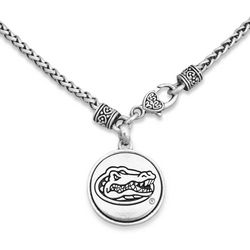 Florida Gators By FROM THE HEART Logo Disc Pendant Necklace