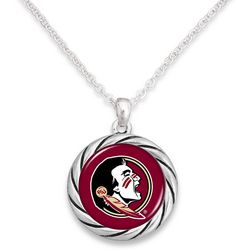 Florida State By FROM THE HEART Team Disc Pendant Necklace