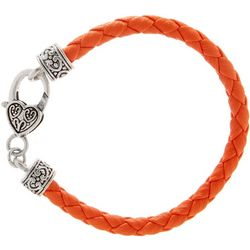 FROM THE HEART Orange Braided Cord Team Bracelet