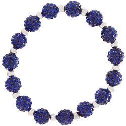FROM THE HEART Blue Pave Rhinestone Stretch Bracelet