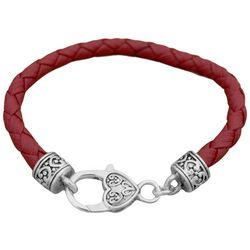 FROM THE HEART Garnet Red Braided Team Bracelet