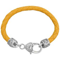 FROM THE HEART Yellow Braided Team Bracelet