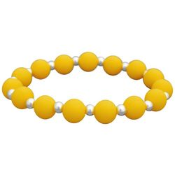 FROM THE HEART Zoey Yellow Bead Stretch Bracelet