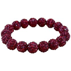 FROM THE HEART Garnet Red Game Day Stretch Bracelet
