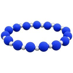 FROM THE HEART Zoey Blue Team Stretch Bracelet