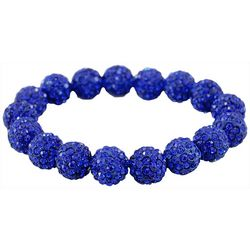 FROM THE HEART Game Day Blue Pave Rhinestone Bracelet