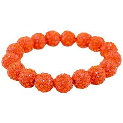 FROM THE HEART Game Day Orange Pave Rhinestone Bracelet