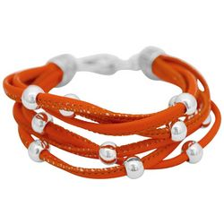 FROM THE HEART Game Day Orange Multi Row Bracelet
