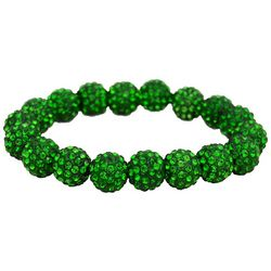 FROM THE HEART Game Day Green Pave Rhinestone Bracelet