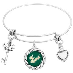 USF Bulls Multi Charm Bangle Bracelet By FROM THE HEART