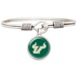 USF Bulls Top Clasp Charm Bangle Bracelet By FROM THE HEART