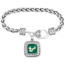 USF Bulls Charm Chain Link Bracelet By FROM THE HEART