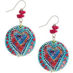 Leoma Lovegrove Sea Heart Disc Drop Earrings