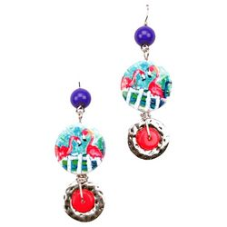 Leoma Lovegrove Flamingo Glamper Earrings