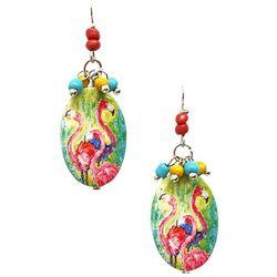 Leoma Lovegrove The Soiree Flamingo Drop Earrings