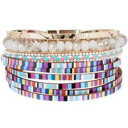 SAACHI Multi Colored Leather & Bead Bracelet