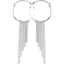 JODY COYOTE Chic Hoop & Chain Dangle Earrings
