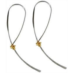 Jody Coyote Two Tone Hoop Earrings