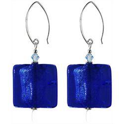 Jody Coyote Blue Glass Bead Drop Earrings
