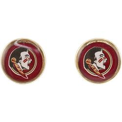Florida State Team Disc Stud Earrings By Accessory