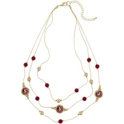 Florida State 3 Row Beaded Necklace By Accessory Plays