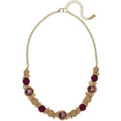 Florida State Beaded Gold Tone Necklace By Accessory Plays