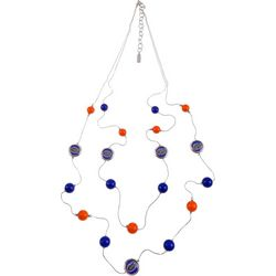Florida Gators Two Row Beaded Necklace By Accessory Plays