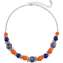 Florida Gators Silver Tone Necklace By Accessory Plays