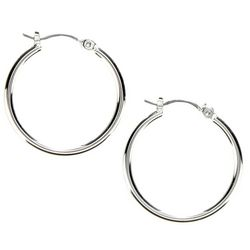 Nine West Small Silver Tone Hoop Earrings