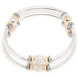 Nine West Tri Tone Bracelet Set