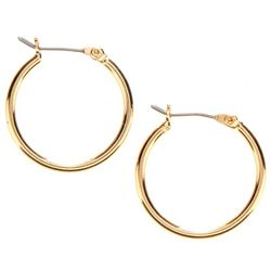 Nine West Small Gold Tone Hoop Earrings