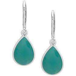 Nine West Green Stone Teardrop Earrings