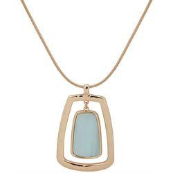 Nine West Blue Cabochon Pendant Necklace