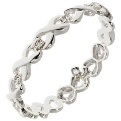 Nine West Silver Tone Infinity Stretch Bracelet