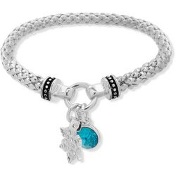 Nine West Holiday Snowflake Charm Stretch Bracelet
