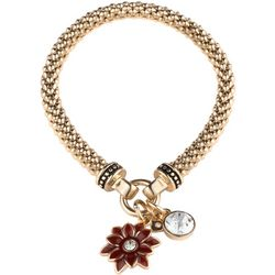 Nine West Poinsettia Charm Drop Stretch Bracelet