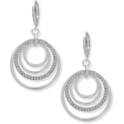 Nine West Crystal Multi Ring Orbital Earrings