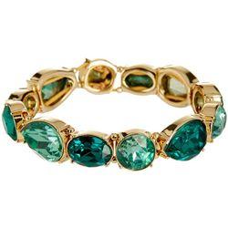 Nine West Green Multi Cabochon Stretch Bracelet