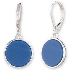 Nine West Blue Disc Drop Earrings