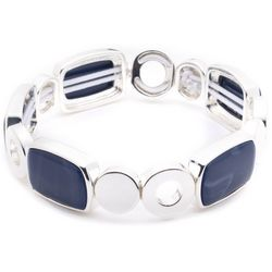 Nine West Blue Denim Rectangle Stretch Bracelet