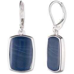 Nine West Blue Rectangle Drop Earrings