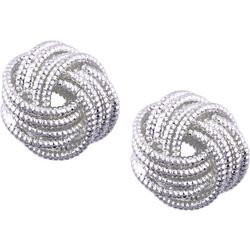 Nine West Silver Tone Metal Knot Earrings